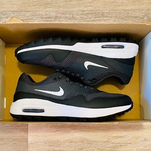 Nike Air Max 1 G Black White Golf Shoes